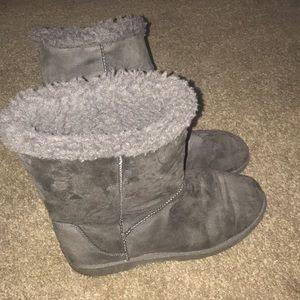 SO Women's Faux Fur Ankle Boots